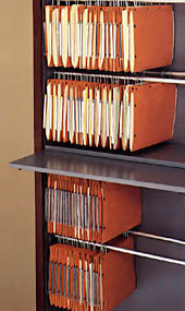 Suspended File Shelving System